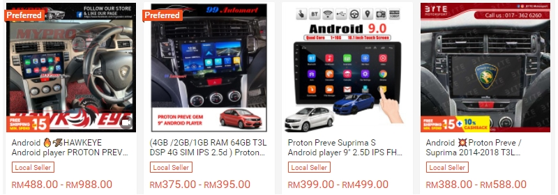 Beli android player Proton murah di Shopee
