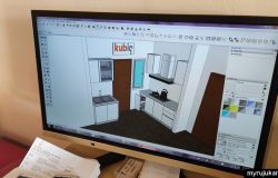 Servis reka bentuk kabinet dapur dari Kubiq Penang