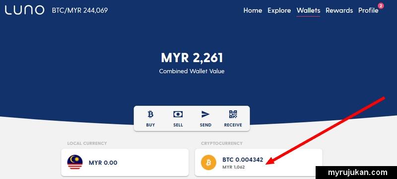 Luno boleh menyimpan coin crypto anda