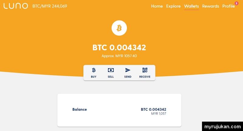 Anda boleh simpan Bitcoin di wallet Luno