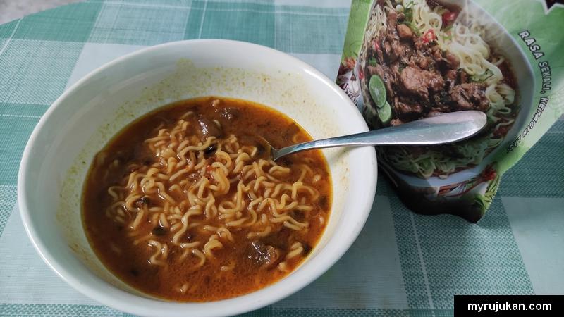 Pek makanan Aliff Syukri Mie Congek