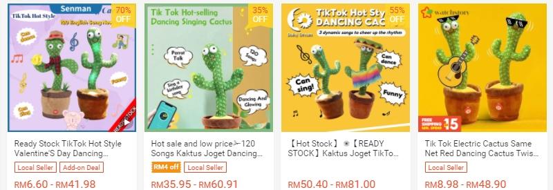 Ada banyak pilihan alat mainan kaktus menari di internet