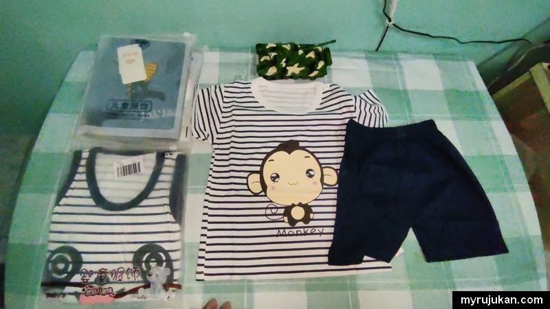 Beli baju baby mudah dan murah di Shopee