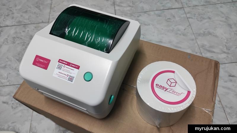 Pencetak thermal printer tanpa dakwat terbaru dari Easyparcel